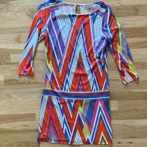 VINTAGE Juicy Couture 70s Pattern Dress